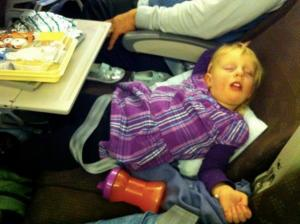When you're only three feet tall, the whole airplane is first class.  Only cheaper.