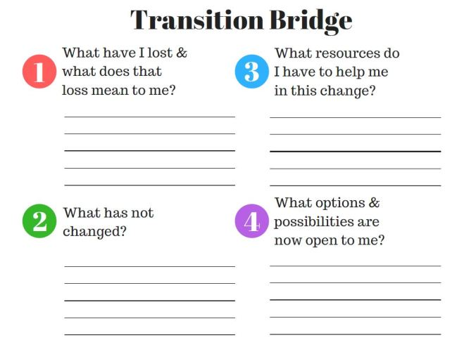 transition questions